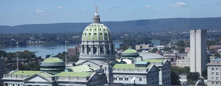Harrisburg Capitol Sky View