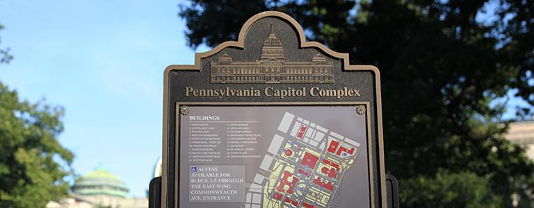 pa capitol complex map sign