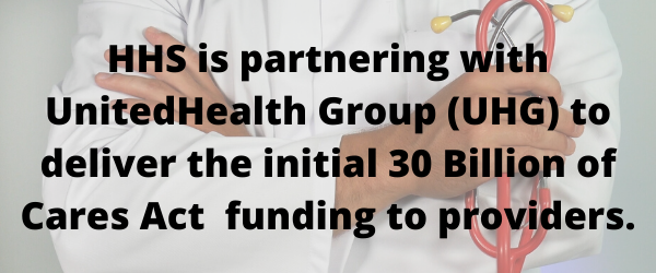 UnitedHealthGroup Partners with HHS for COVID-19 Relief for Healthcare Providers
