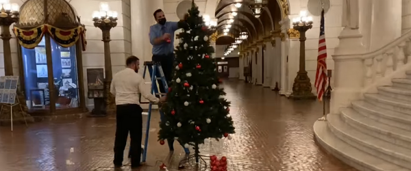 State Representatives Andrew Lewis and David Rowe Bring Some Christmas Cheer to the Capitol Again