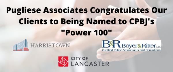 """Congrats to 3 Clients on being named to CPBJ's """"Power 100"""""""